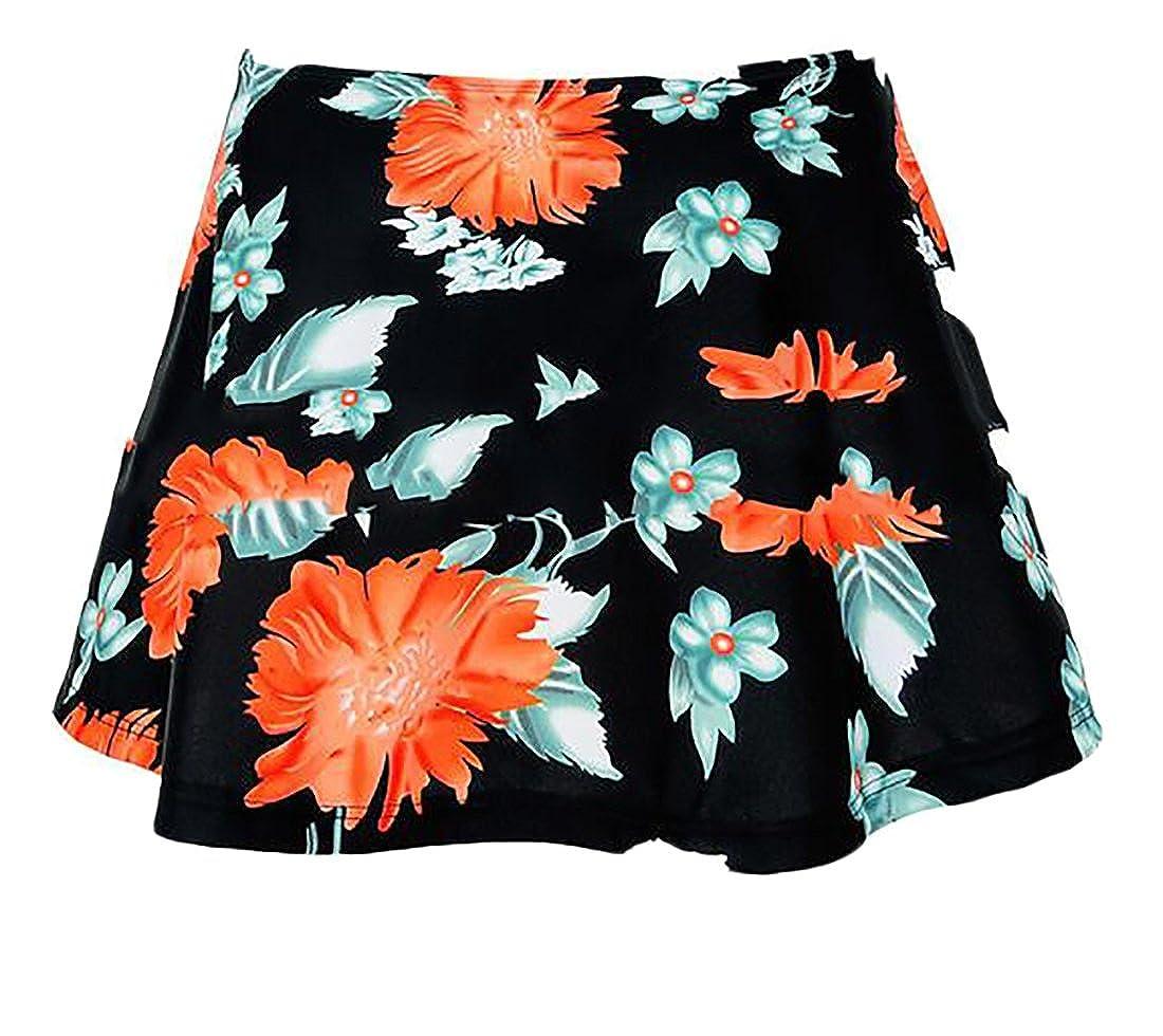ouxiuli Women's Fashion Beach Fashion Plus Size Swim Brief