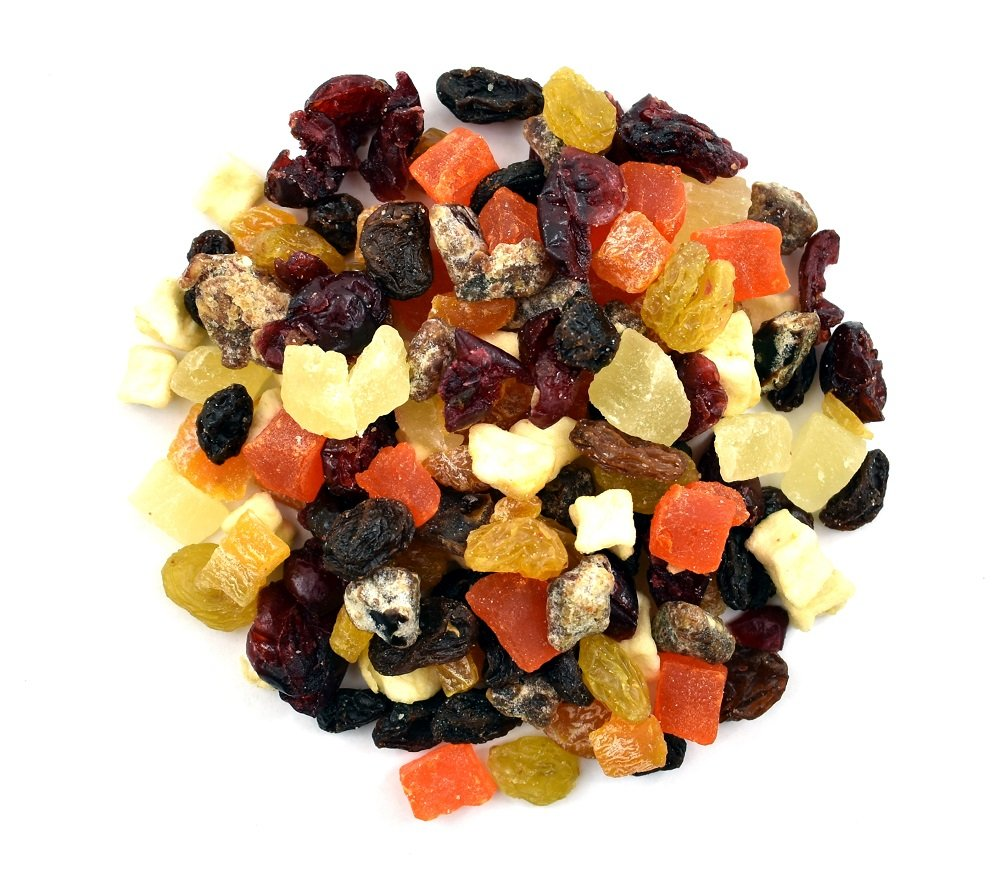 Anna and Sarah Mini Fruit Trail Mix for Hiking, Assortment of Dried Fruits, Healthy Snack Combo in Resealable Bag, 2 Lbs