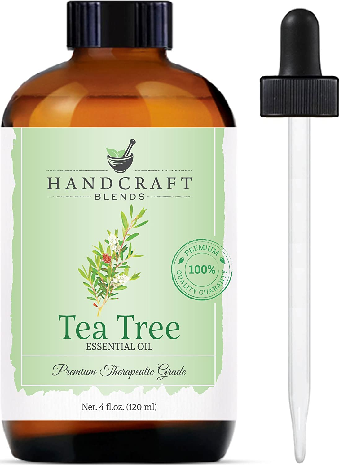 Handcraft Tea Tree Essential Oil - 100% Pure and Natural - Premium Therapeutic Grade with Premium Glass Dropper