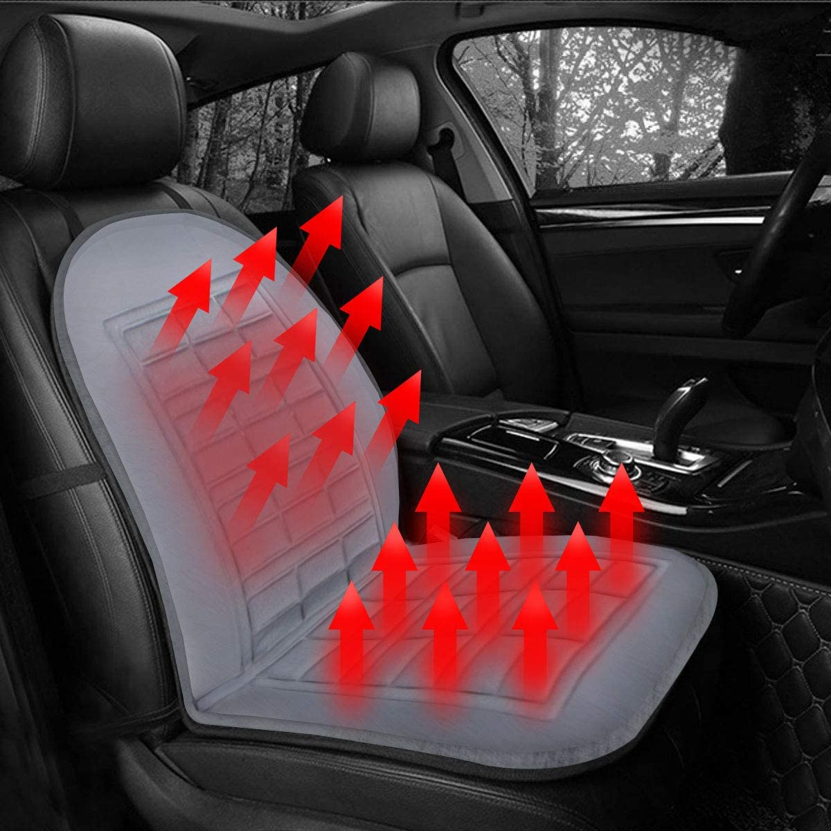 Amazon.com: Jonathan-Shop - 12V Car Styling Front Seat Electric Heater  Heated Pad Cushion Winter Warmer Pad Cover Heating Auto Single: Home  Improvement