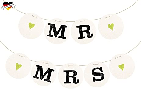 """Hochzeitsbanner /""""MR /& MRS /"""" Hochzeit Banner Girlande Stuhl Deko Zeichen"""