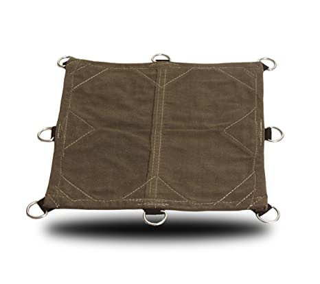 12x16 18oz Heavy Duty Canvas Tarp with D-Rings - Water, Mold, and Mildew  Resistant (12x16)