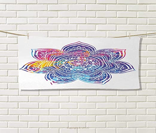 Anniutwo Lotus, Toalla, geometría Sagrada Yantra Mandala ...