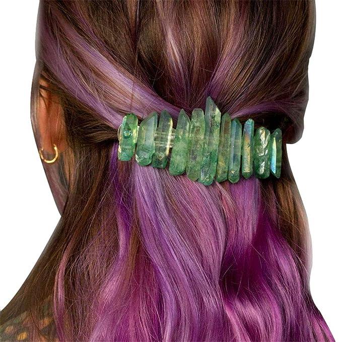 Raw Stone Hair Pins Raw Crystal Hair Clip Rose Quartz Hair Accessory Crystal Hair Pins Turquoise Hair Clip Gemstone Barrette Boho Hair