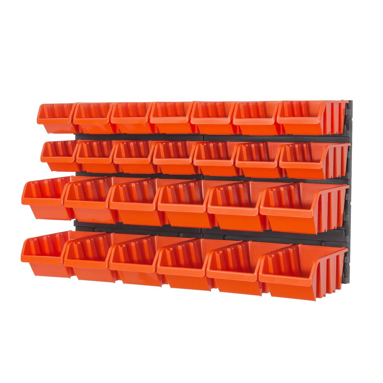 bec petits outils bo/îte orange murale IN BOX Etag?re des 28 /él/éments bac