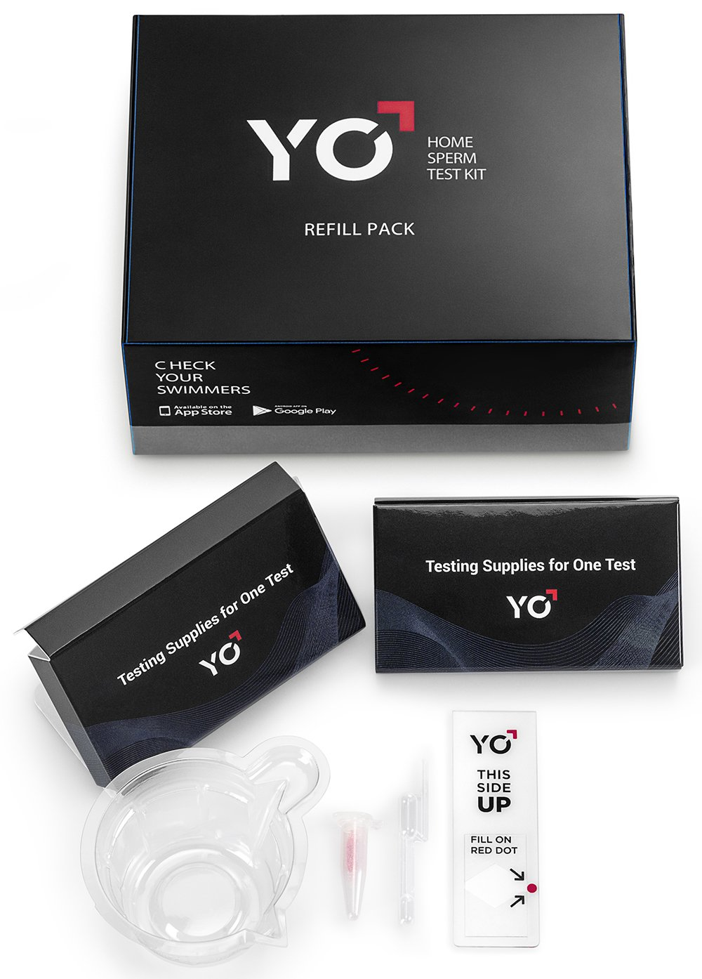 Refill Kit | 2 Additional Tests for YO Home Sperm Test | Motile Semen Analysis | YO Testing Device NOT Included - Refill Pack Only | Choose: 4 Pack, 2 Pack by YO