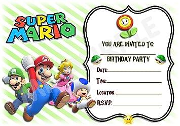 Super Mario Fonte D Invitation Fête D Anniversaire Paysage