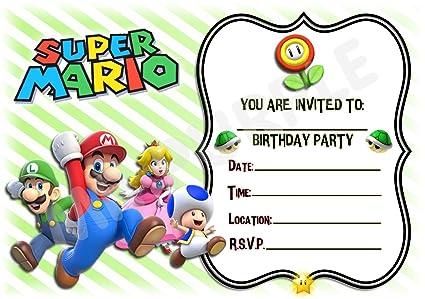 Super Mario fundido cumpleaños fiesta invita a - paisaje ...