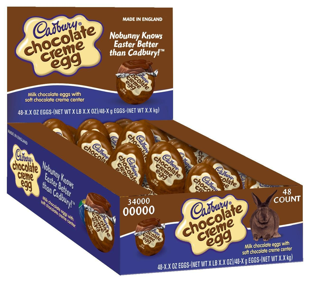 Amazon.com : Cadbury Easter Chocolate Creme Egg 48 Count, 1.2 ...