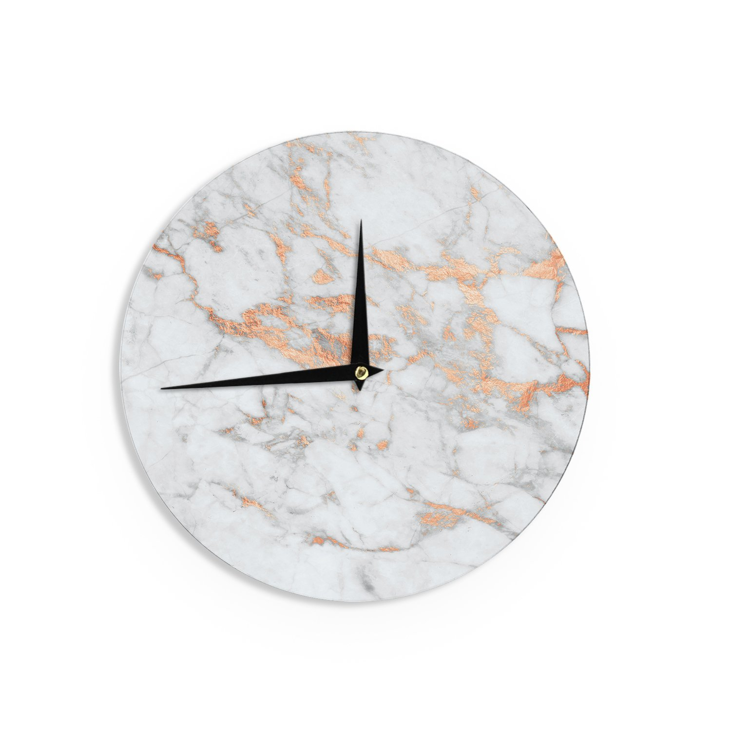 Shop amazon wall clocks kess inhouse kess original rose gold flake white pink wall amipublicfo Images