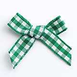 Red 100 Pack 3cm Gingham Ribbon Bow