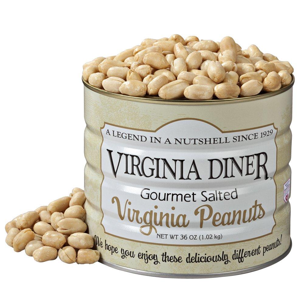 Virginia Diner Gourmet Salted Virginia Peanuts, 36 Ounce Tin by Virginia Diner