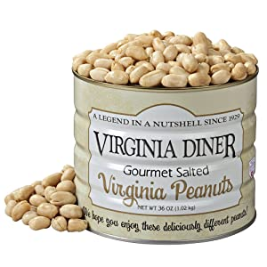 Virginia Diner Gourmet Salted Virginia Peanuts, 36 Ounce Tin