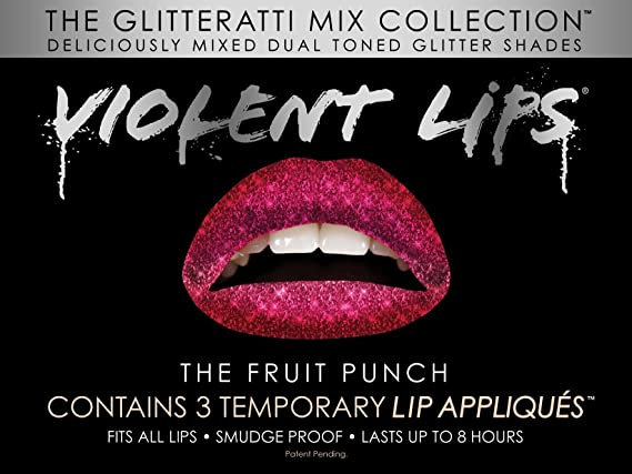 Violent Lips Los Fruit Punch temporal tatuajes de labios - Set de ...
