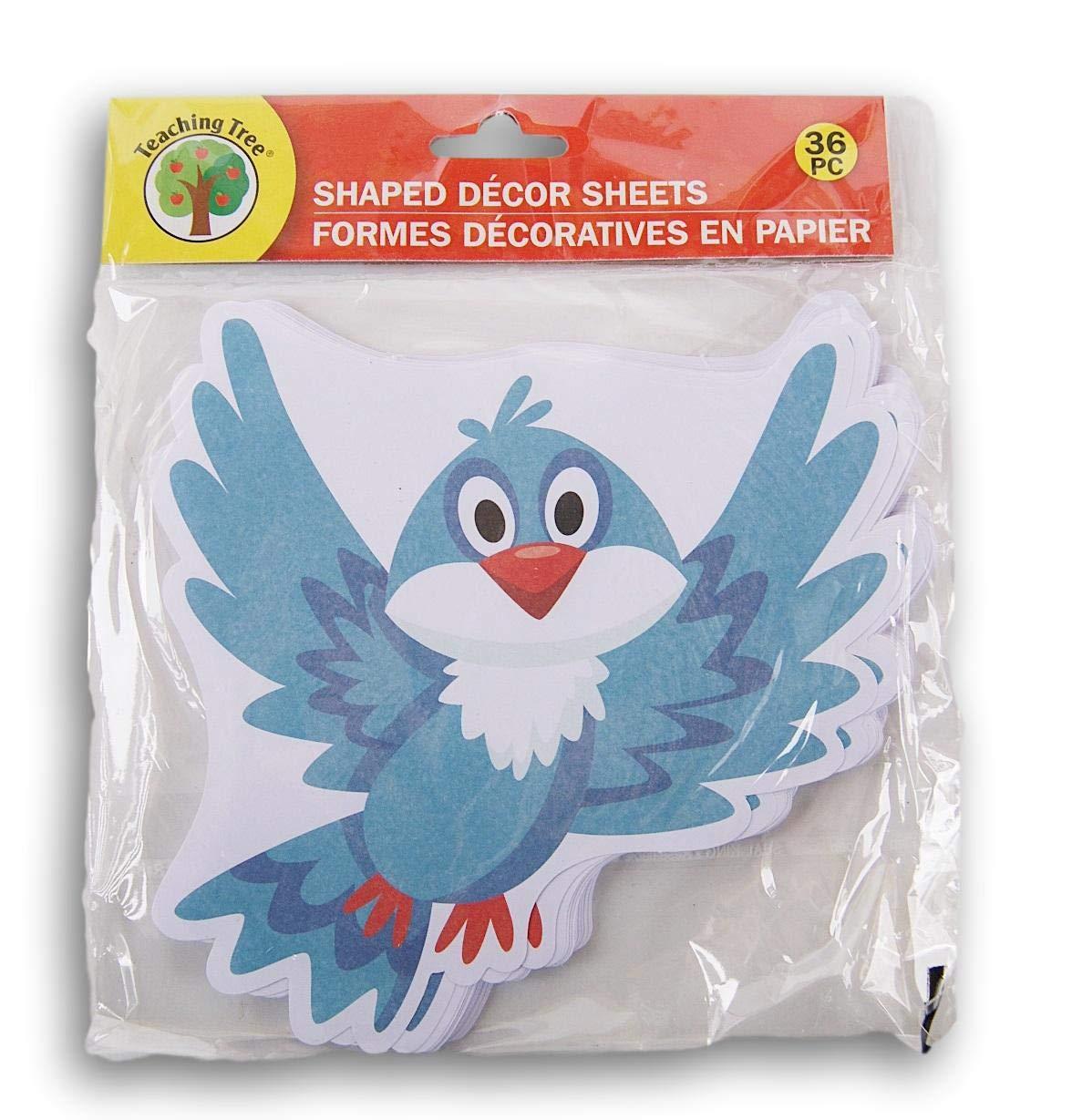 Teaching Tree Paper Shaped Decor Sheets 36 Count Bluebird