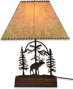 """Elk Table Lamp-Rustic Patina 26"""""""