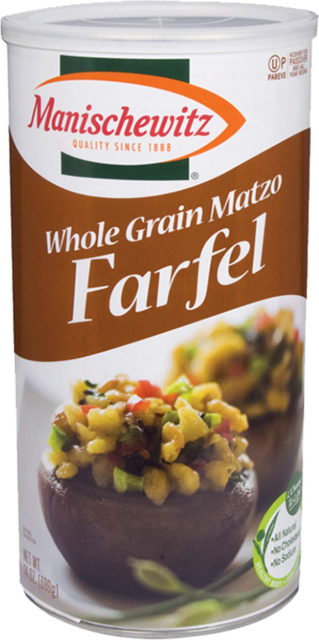 MANISCHEWITZ Whole Grain Fargel Matzo Canister, 14 OZ