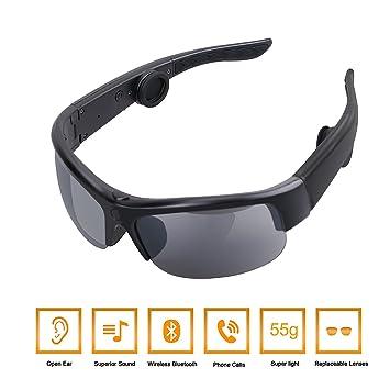 Tayinplus Des lunettes de soleil Casque à Conduction Osseuse Oreillette  Bluetooth Des lunettes avec 2 Paires feab652460f2