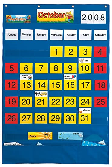 Amazon.com: Lauri Calendar Pocket Chart (English/Spanish): Toys ...