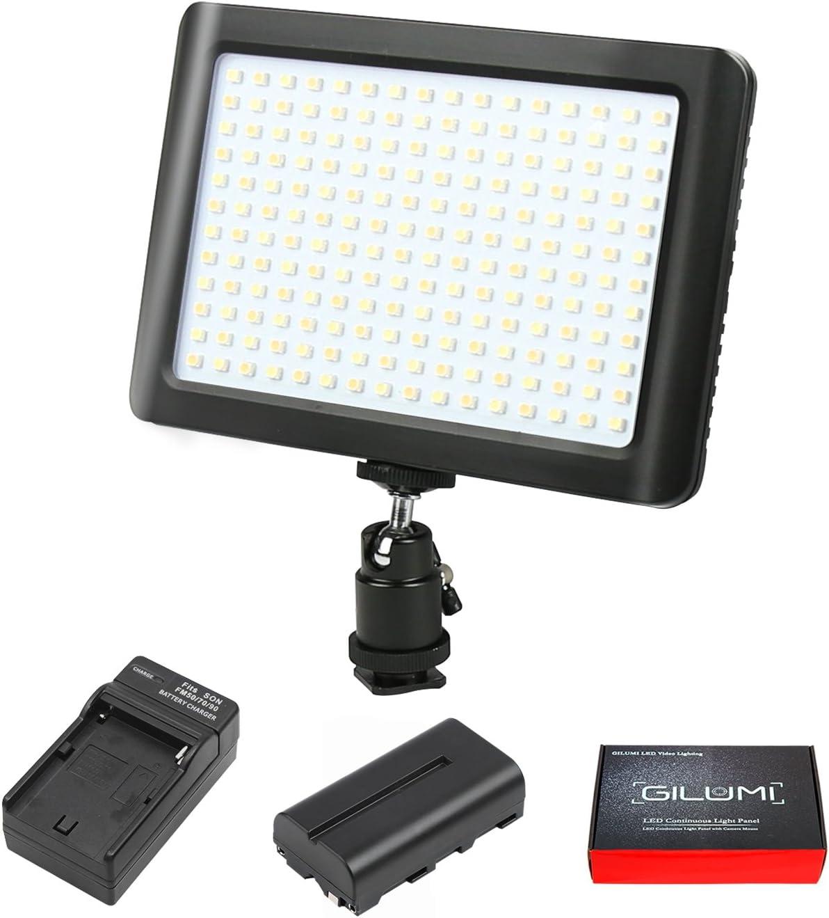 Panel De Lámpara Luz de vídeo LED con 160 Bombillas LED 3200//5600K 12 W Para Digital SLR