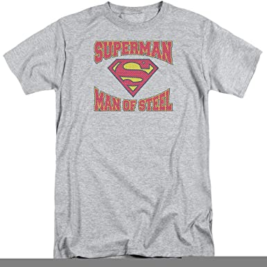 728b0be4173 Superman Man of Steel Jersey 2X Cotton T-Shirt Athletic Heather Adult Men s  Unisex Short