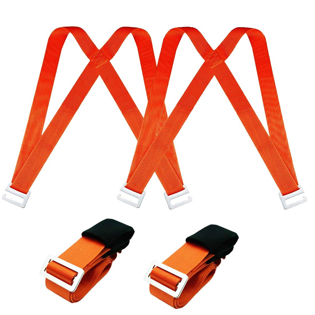Moving Lifting Adjustable Straps Harnesses - Easy Move Lift Carry Furniture Appliances Heavy Objects Without Back Pain, Secure for 2 Person Movers