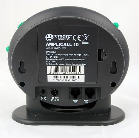 Geemarc Amplicall - Amplificador de sonido para teléfonos para personas sordas: Amazon.es: Salud y cuidado personal