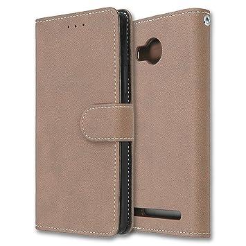 Lenovo A7700 Hulle Chreey Matt Leder Tasche Retro Handyhulle Magnet Flip Case Mit Kartenfach Geldborse