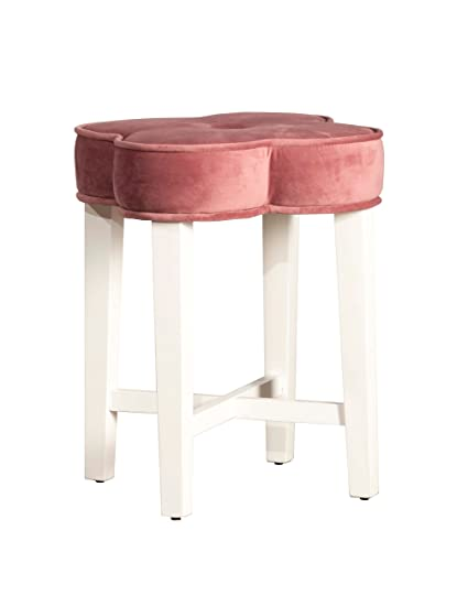 Hillsdale 51020 Clover Vanity Stool, Blush Pink