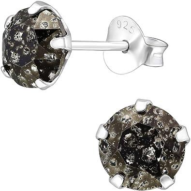 f4dd2791e3e6b EYS Women's Earrings 925 Sterling Silver Jewelry Round Patina ...