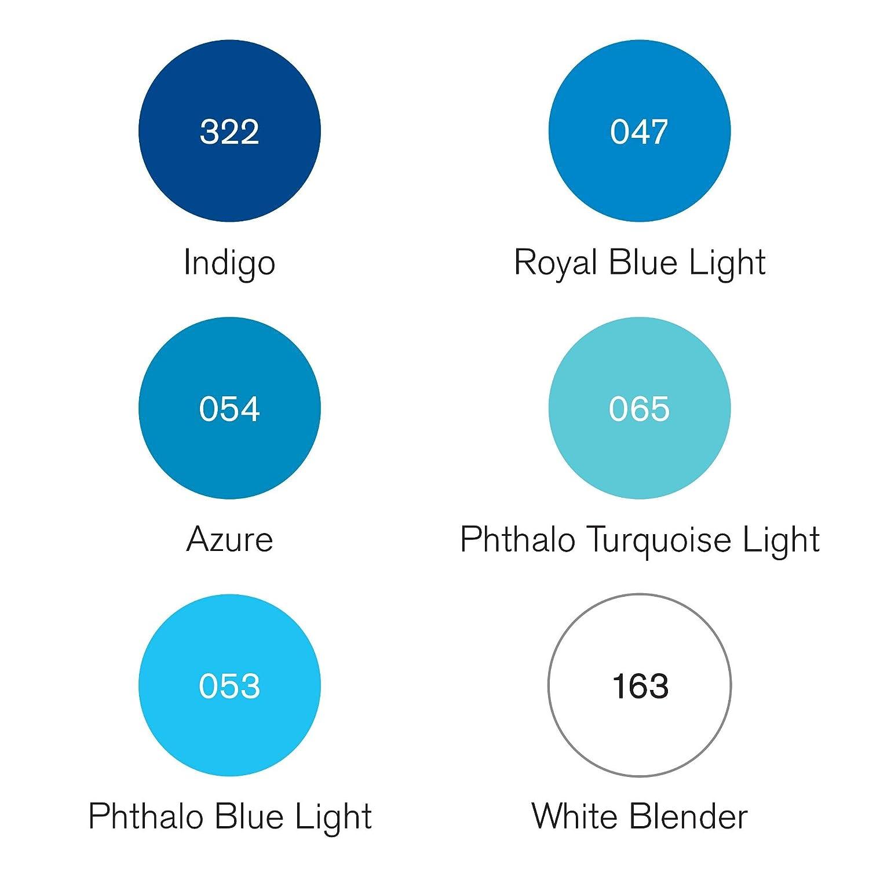 Winsor /& Newton Pigment Marker Assortiment de 6 Feutres /à dessin Ton Riche