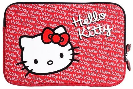 Hello Kitty HKFO010 - Funda para ordenadores portátiles de 15.4 pulgadas, color rojo