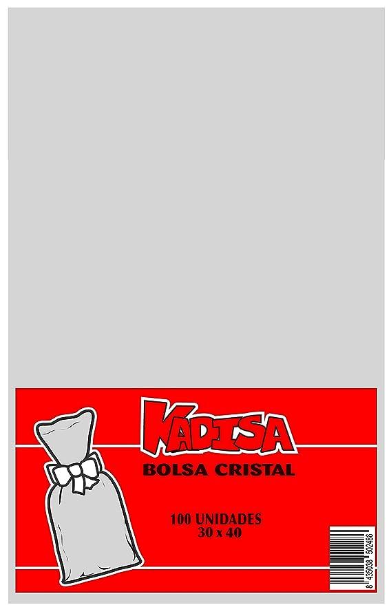 KADISA BOLSAS CELOFAN TRANSPARENTES PARA CELEBRACIONES, CUMPLEAÑOS, BODAS, COMUNIONES, DETALLES, REGALOS, FIESTAS, MESAS DULCES, PASTELERÍA (30X40CM)