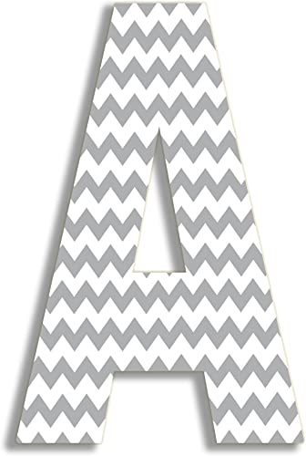 The Home Stupell Home Decor Collection Gray Chevron 18 Inch Hanging H