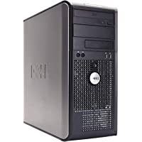 Dell 780 Mini Torre - MT, Intel Core 2 Duo E8400 3.0 GHz, 4 GB DDR3, 250 GB, Windows 7 Pro, Negro - Plata Reacondicionado (Certified Refurbished)