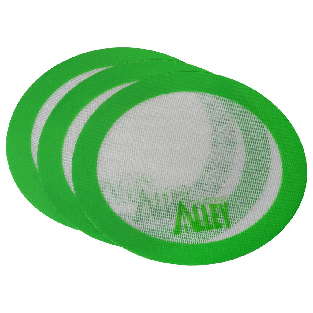"""Silicone Alley, 3 Non-stick Mat Pad/Silicone Rolling Baking Pastry Mat Large Round 9.5"""" Green"""