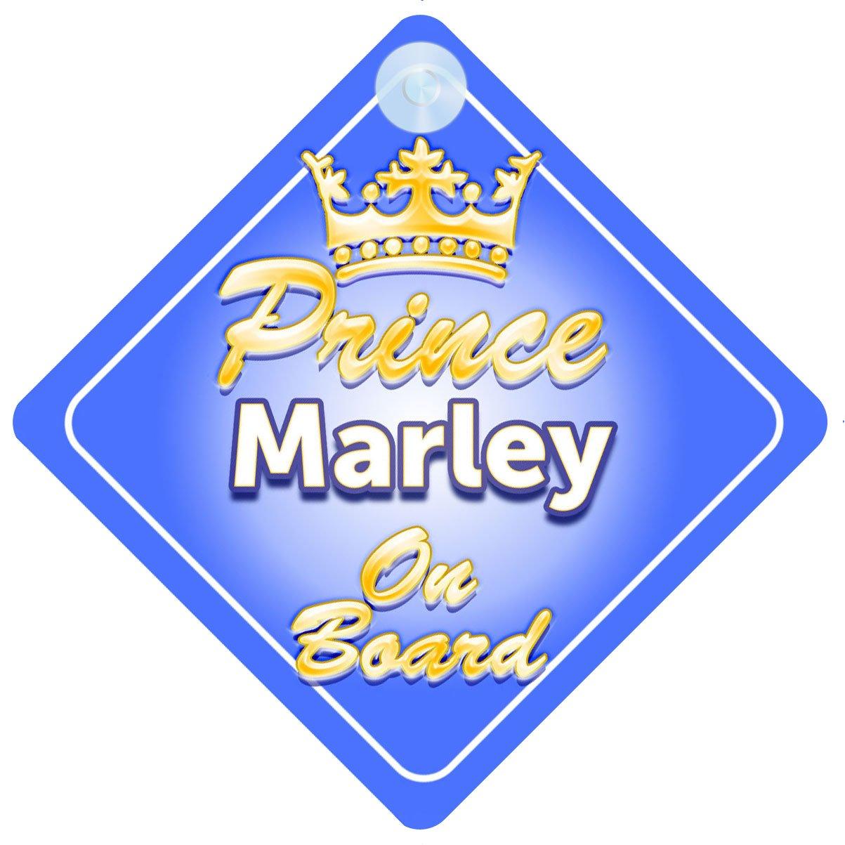 Crown Prince Marley on Board Personnalisé pour bébé/enfant garçons voiture Panneau mybabyonboard UK