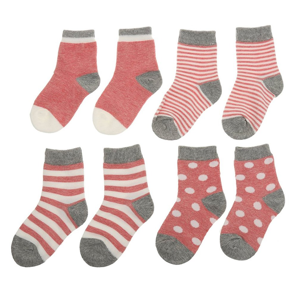 Cute Set of 4 Pair Infant Baby Toddler Winter Socks for Girls and Boys Warm Yodosun