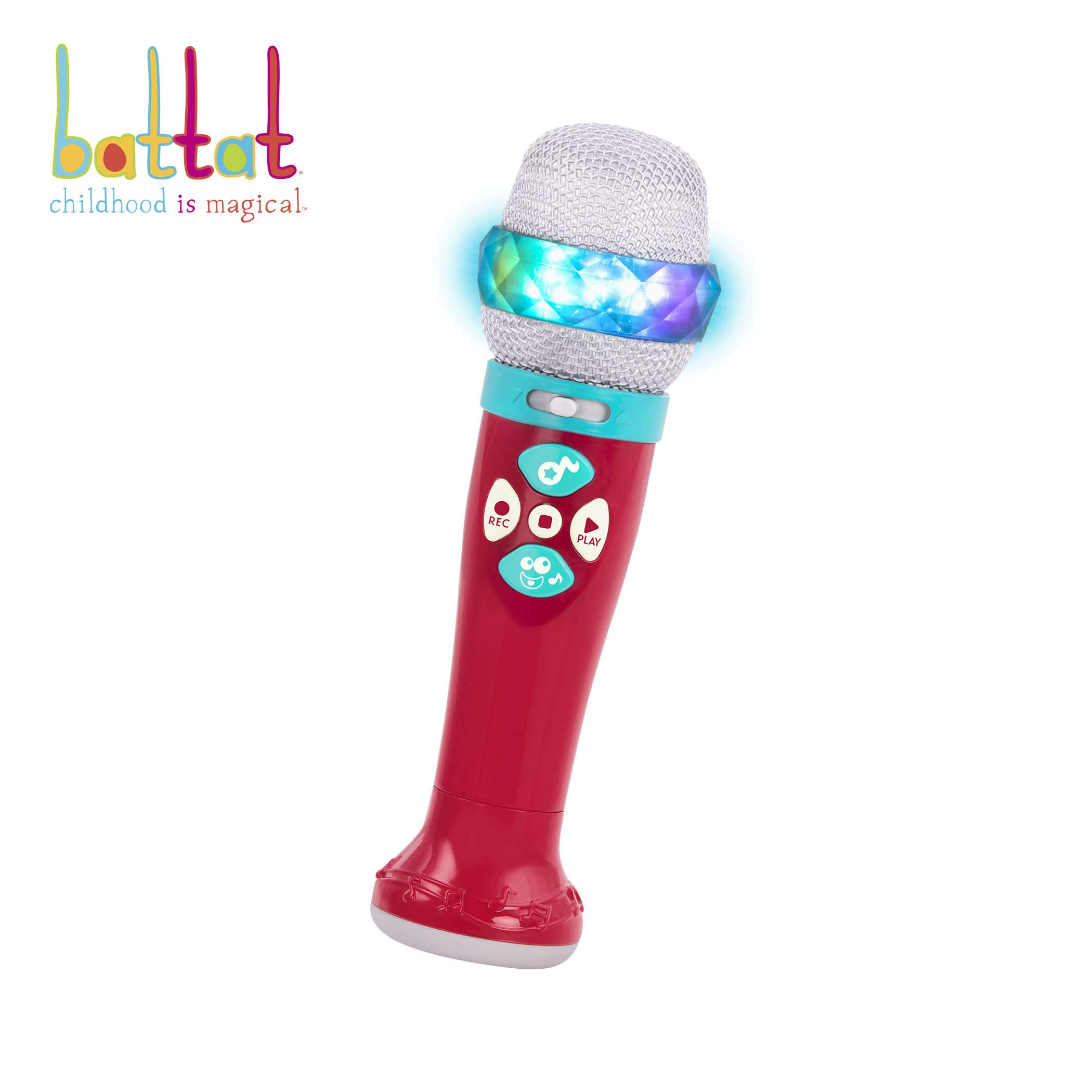 Battat - Musical Light Show Microphone - Light-Up Sing-Along Mic with 5 Songs and Record Functions for Kids 2 Years + (Bluetooth) by Battat