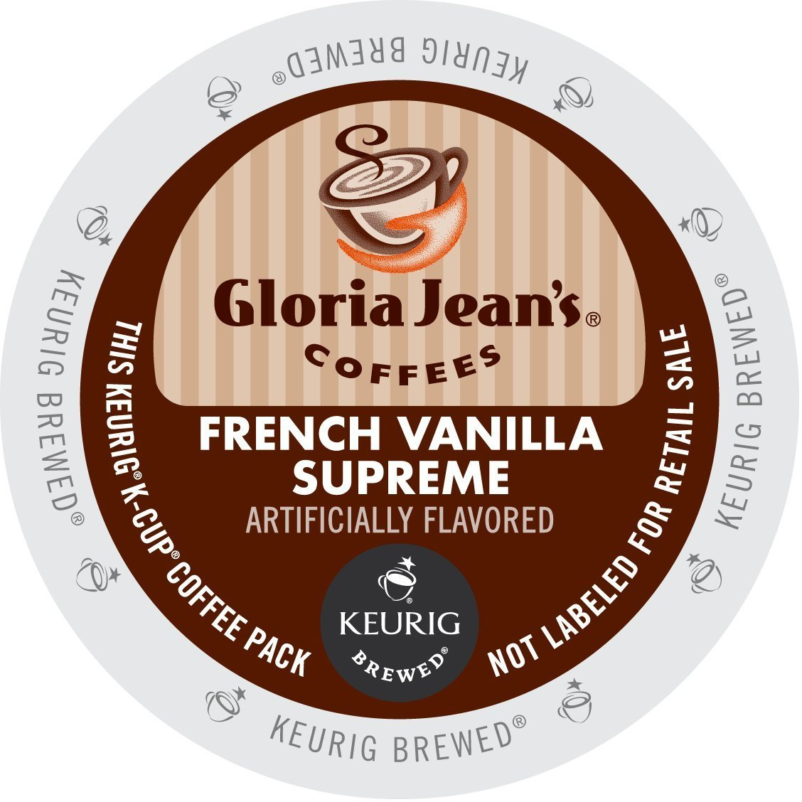 Gloria Jean's Coffees, French Vanilla Supreme K-Cup Portion Pack for Keurig Brewers 24-Count