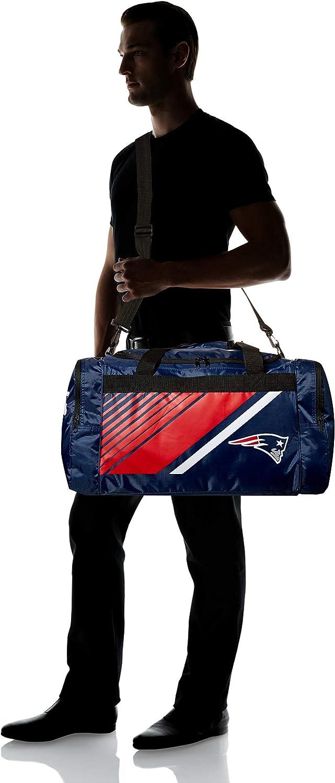 New England Patriots Border Stripe Duffle Bag