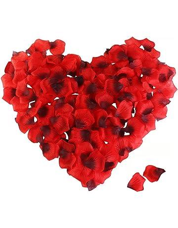 ef137017923b Peloo Pétalos de Rosa 3000pcs Pétalos de Rosa en Seda para Bodas Confeti  Petalos Artificiales