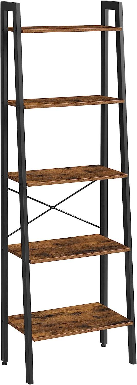 "VASAGLE 22.1""L x 13.3""W x 67.7""H Ladder Shelf $52.98 Coupon"