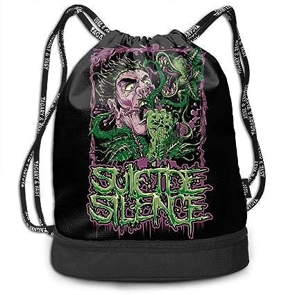 AgoodShop Suicide Silence Drawstring Backpack Sport Gym Travel Bag