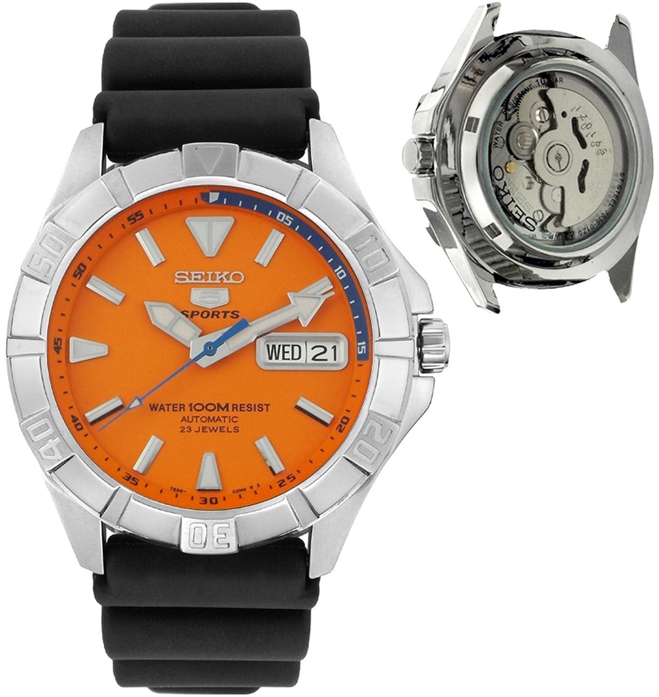 81417dcf5 Seiko Men's SNZD29 5 Sports Automatic Black Rubber Watch: Seiko: Amazon.in:  Watches