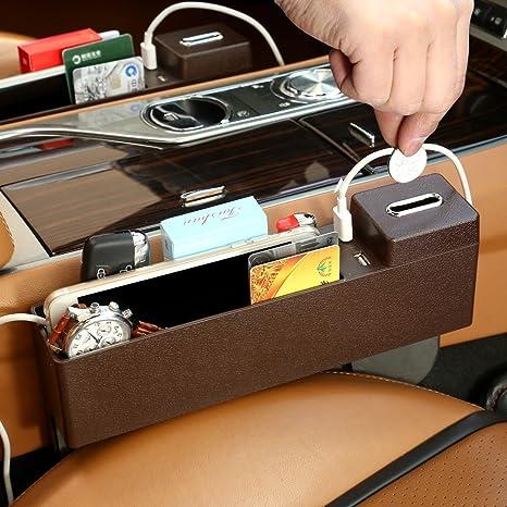 Organizador de asiento de coche para rellenar y organizar huecos de coche, caja de almacenamiento