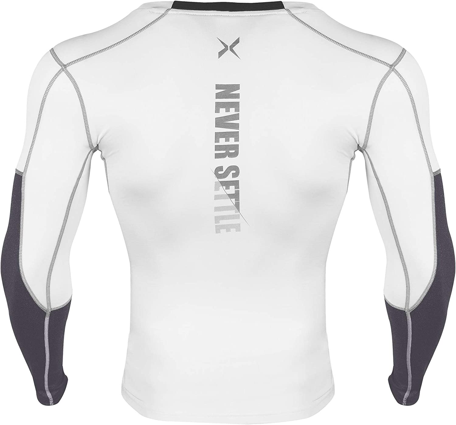 Xtextile Mens Long Sleeve Compression Top Cool Dry Baselayer Training Rash Guard