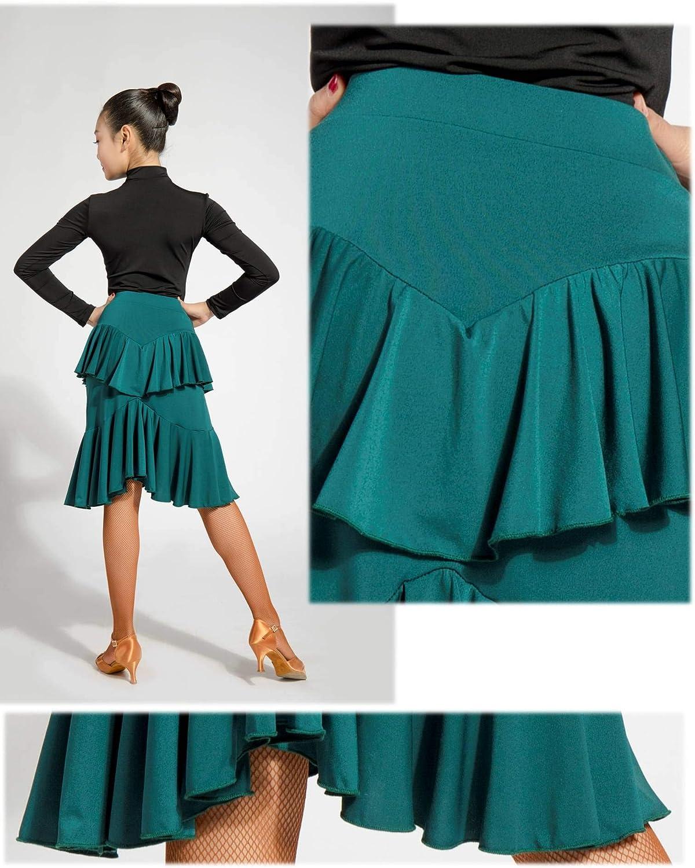 GD2046 Kid Latin Ballroom Ball Party Dance Professional Double Layer Lotus Leaf Shape Swing Design Skirt for Girl