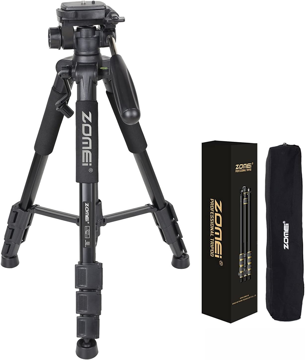 Zippem 55 Professional Aluminum Alloy Camera Tripod for DSLR Canon Nikon Sony DV Video and Smart US Stock
