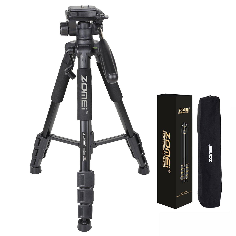 ZOMEI Q111 55インチ プロフェッショナル アルミ合金 カメラ三脚 DSLR Canon Nikon Sony DV ビデオおよびSmar用   B07H8DBVVP